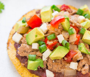 Easy Loaded Chicken Tostadas