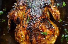 Glazed Honey Garlic Beer Can Chicken