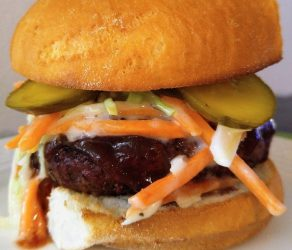 Gluten Free Bbq Hamburger with Coleslaw