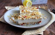 Lemon Quinoa Crunch Cheesecake
