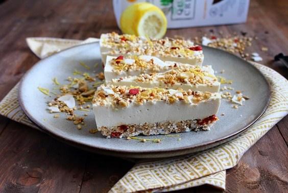 Lemon Quinoa Crunch Cheesecake