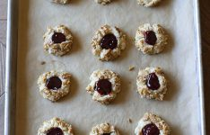 Raspberry Walnut Thumbprint Cookies
