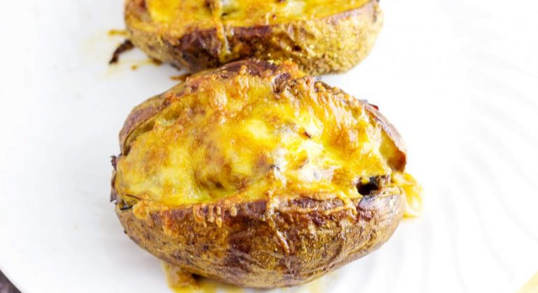Roast Beef Stuffed Baked Potatoes- Using Leftovers