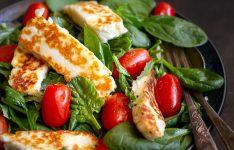 Haloumi Salad with Mint