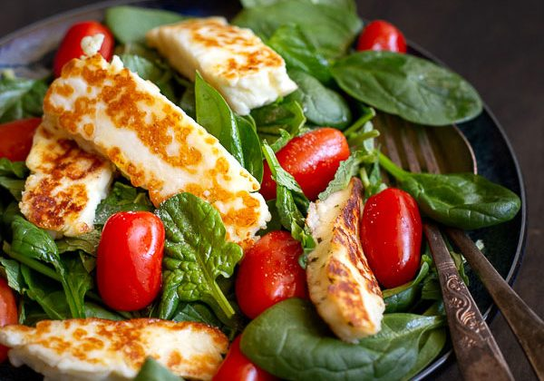 Haloumi Salad with Mint