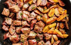 Juicy Skillet Steak Bites with Potatoes