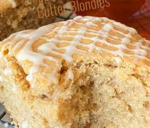 Peanut Butter and Maple Blondies