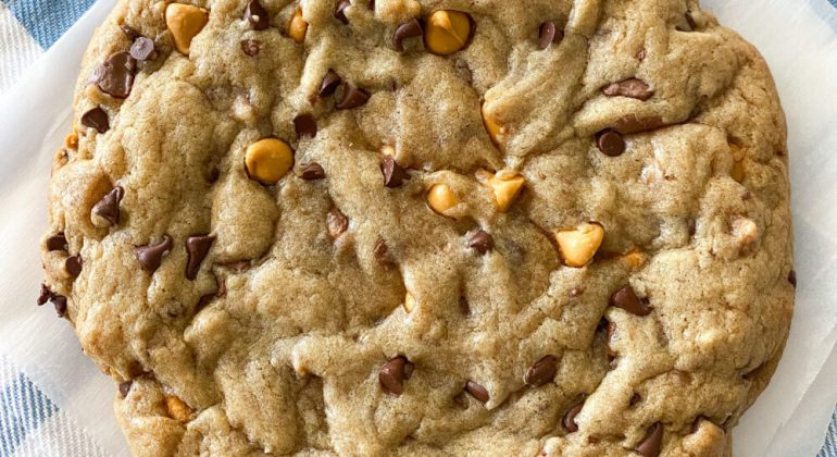 Triple Chip Giant Chocolate Chip Cookie